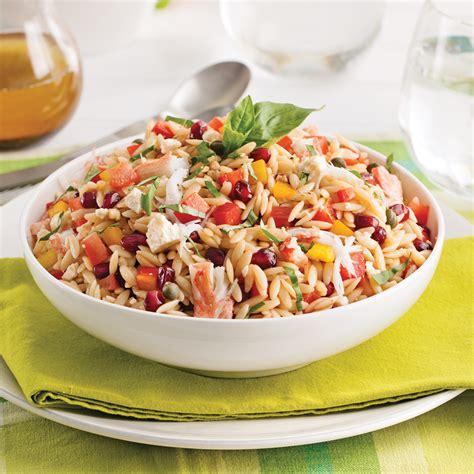 cuisine et recettes salade d orzo au crabe recettes cuisine et nutrition