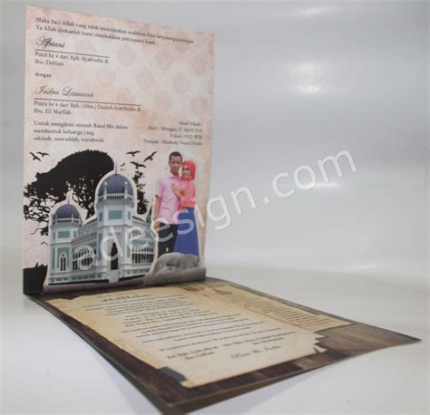 Desain Undangan Pernikahan Pop Up | undangan pernikahan islami pop up rani dan indra lesmana