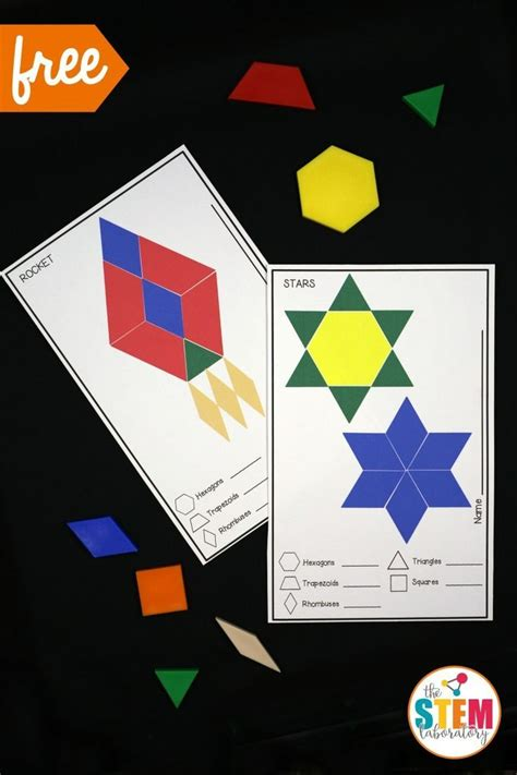 pattern blocks in kindergarten free outer space pattern block mats such a fun space