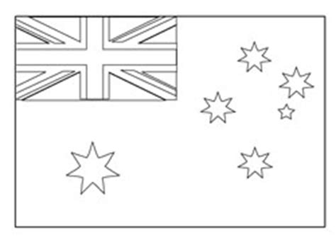 australian flag template to colour printable coloring flags australia coloring pages