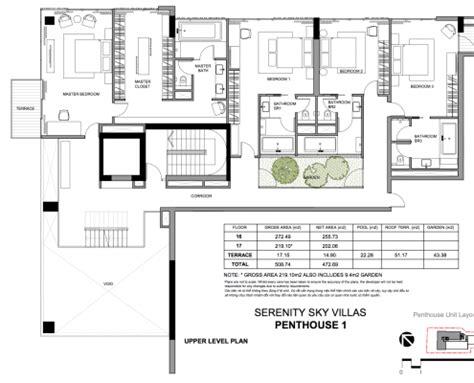 Takashimaya Floor Plan serenity sky villa 45 exclusive sky villas in district 3
