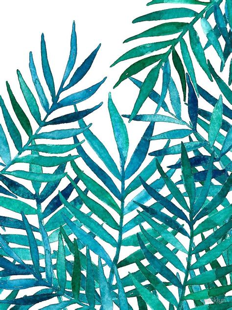 watercolor leaf pattern watercolor palm leaves on white by micklyn inspirations