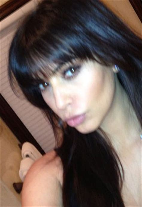 pictures of how tocut a fringe hair around the face kim kardashian fringe hair cut blunt bangs are back