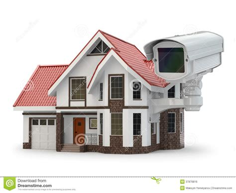 security cctv on the house stock photo image