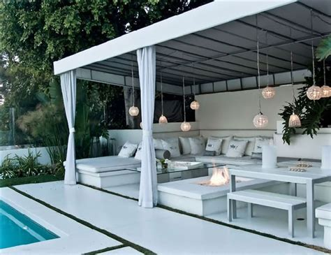 Diy Outdoor Cabana Beverly Hills Cabana With Backyard Cabana Ideas