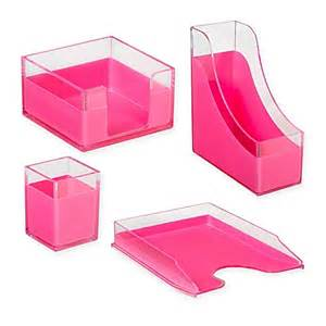 desk organizer in pink bed bath beyond