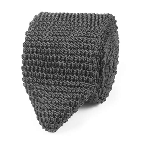 knitted tie pointed end light grey pointed knitted tie knit ties knits otaa