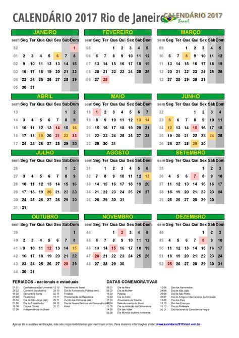 Calendario 2017 Feriados De Janeiro Calend 193 2017 Para Imprimir Feriados
