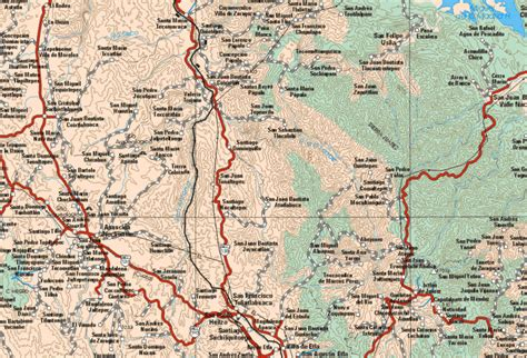 map of mexico oaxaca san miguel santa flor
