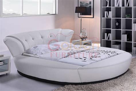 elegant white leather modern king size bedroom sets with white king size modern and elegant round bed 6820 buy