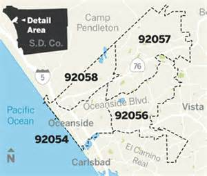 zip codes oceanside california map