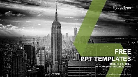 will template new york new york city skyline powerpoint templates