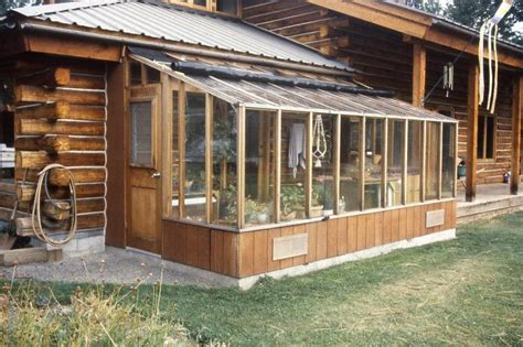 Attached Solarium Garden Sun Room Greenhouse 8x16 Attached To A Log Cabin