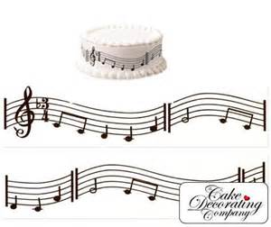 notes decorations decorating a cake with musical notes notes pack of