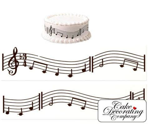 Musical Notes Decorations by Decorating A Cake With Musical Notes Notes Pack Of