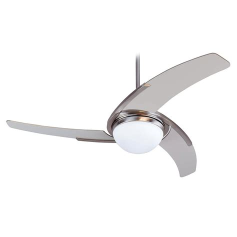 Stainless Steel Ceiling Fans With Lights Ceiling Extraordinary Stainless Steel Ceiling Fan Brushed Nickel Ceiling Fan With White Blades