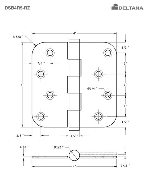 zigzag hole pattern deltana dsb4r515 rz satin nickel residential zig zag hole