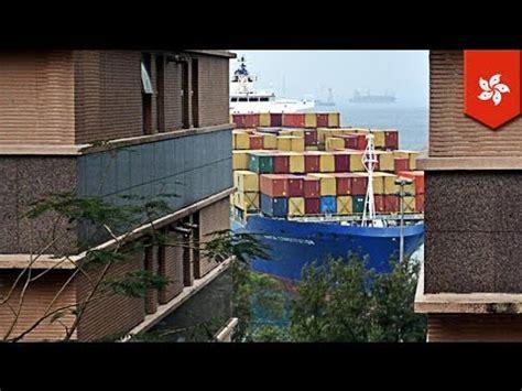 boat crash hong kong hong kong boat crash container ship plows into pok fu lam