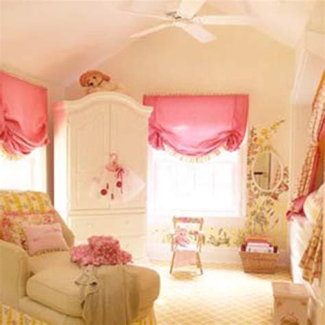 Girly Window Curtains Decorating Beautiful Nursery Pink Green Floral Girly Like Everything But The Window Treatments For