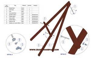Lightweight tripod easel plan parts list