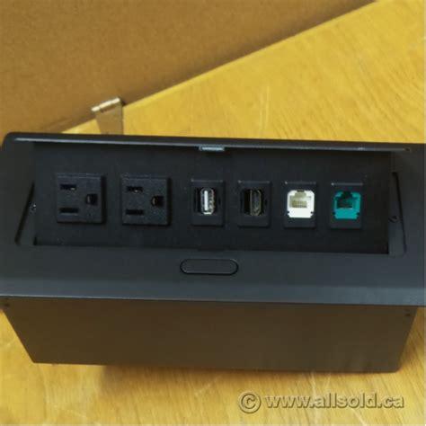 Desk Power Grommet 2 Power Sockets Usb Hdmi Phone Rj45 Office Desk Power Sockets