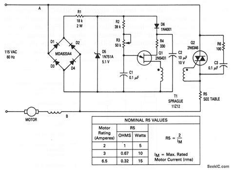 triac motor circuit diagram circuit and