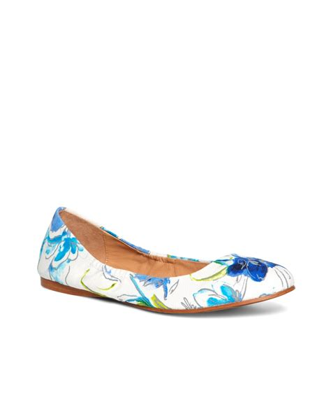 brothers floral canvas ballet flats in blue lyst