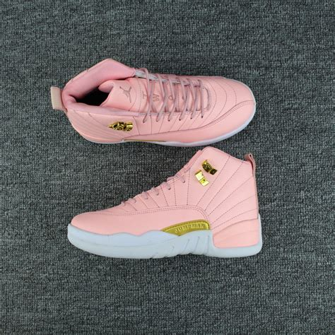 nike air 12 j12 basketball shoes in pink high