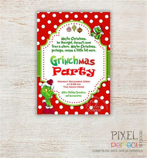Grinch Card Template by 18 Best Invites Images On Invitations