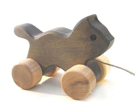 Handmade Wooden Toys Uk - toypost pull along toys cat handmade