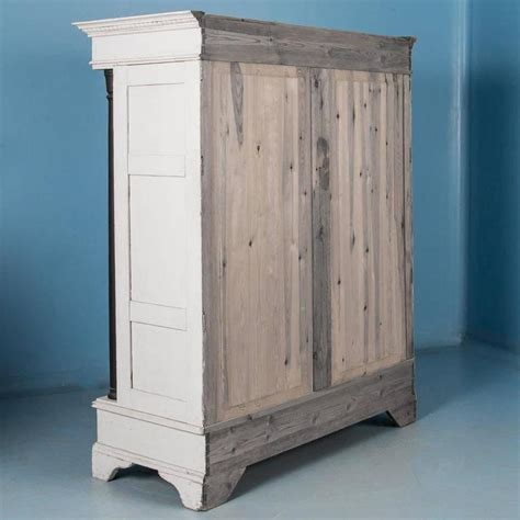 biedermeier armoire antique 19th century danish white painted biedermeier