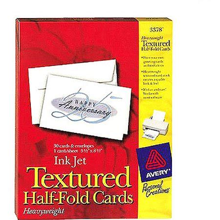 avery card templates half fold avery 3378 textured half fold greeting cards walmart