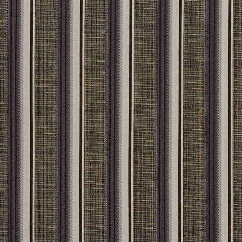 striped fabrics for upholstery brown silver and ivory striped textured metallic
