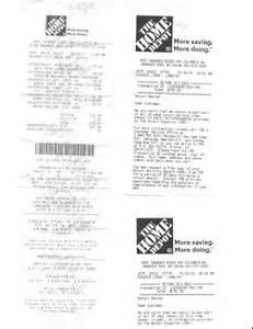 home depot receipt template home depot customer service complaints department