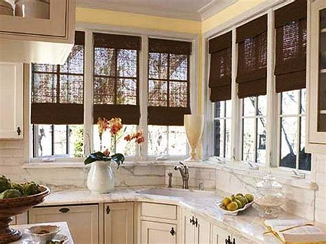 kitchen bay window treatment ideas here are some ideas for your kitchen window treatments