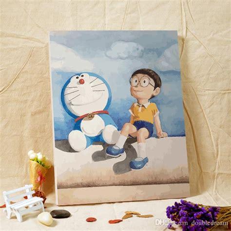 painting for doraemon 2018 style doraemon digital painting diy print canvas