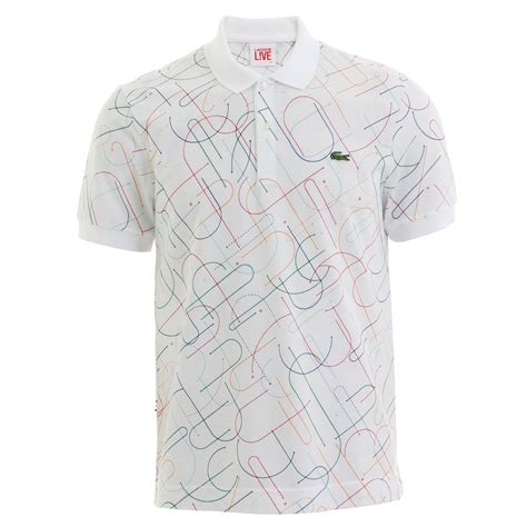 pattern polo shirt lacoste live polo shirts allover pattern short sleeve