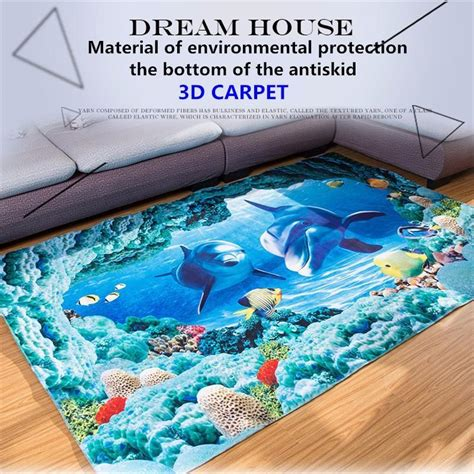 At Home Underwater Rug - 3d underwater world carpets for living room printing home