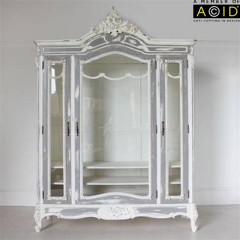 Glass Fronted Wardrobes - large glass fronted armoire painted furniture