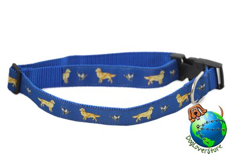 golden retriever collars golden retriever breed adjustable collar xl 13 26 blue ebay