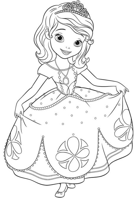 Princess Sofia Coloring Pages Butterfly Costume Coloringstar Sofia The Coloring Pages
