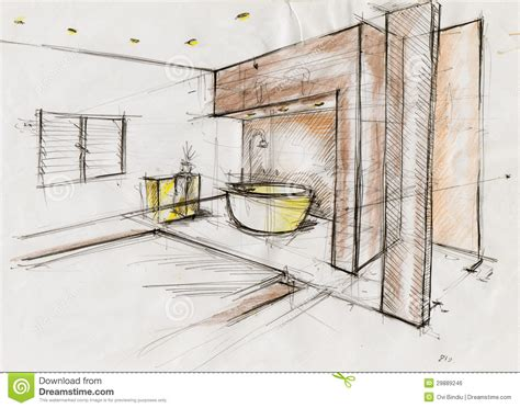interior design ausbildung sketch illustration for interior design stock illustration
