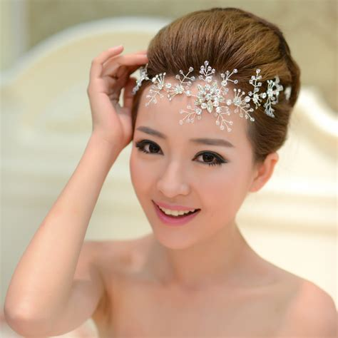 hairstyles with haedband accessories video crystal hairbands wedding headwear women jewelry wedding