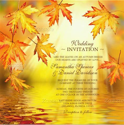 26 Fall Wedding Invitation Templates Free Sle Free Fall Templates