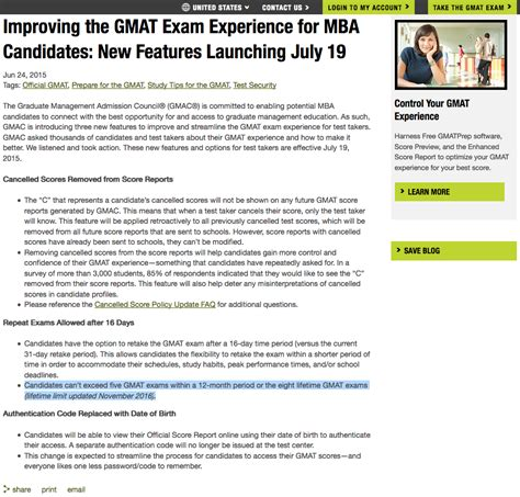 Gmat Mba Forum by Gmac Announces A Lifetime Limit Of 8 Gmat Exams General