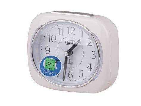 trevi retro bedside travel alarm clock silent ticking snooze function white ebay