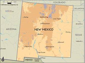 us map new mexico geographical map of new mexico and new mexico geographical
