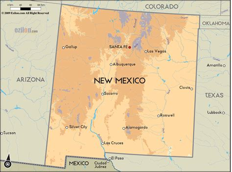 nm map new mexico map free large images