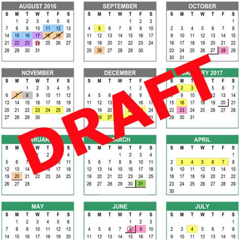 Albemarle County School Calendar 2016 17 Draft Calendar Now Posted Division Compass