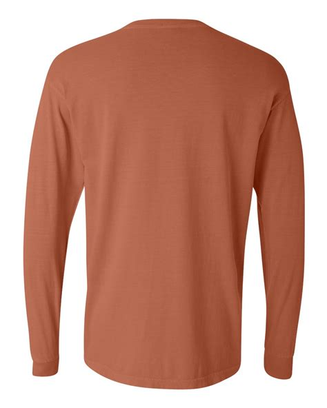 comfort color long sleeve comfort colors dyed heavyweight ringspun long sleeve t